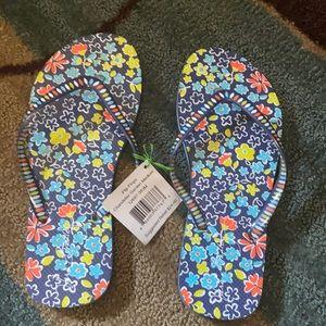 NWT Vera Bradley flip flops